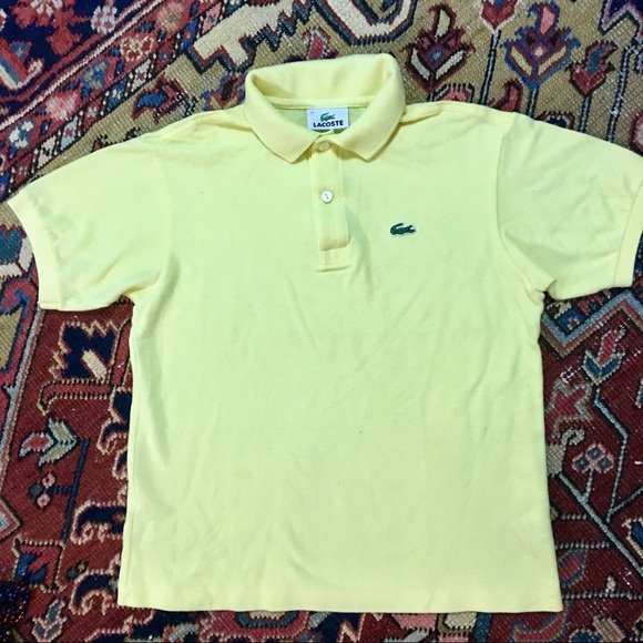 6ca204c6 Lacoste Shirts & Tops | Kids Yellow Polo | Poshmark